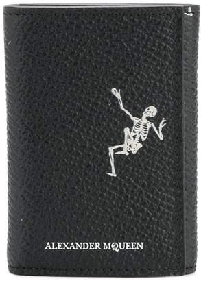Alexander McQueen dancing skeleton print tri-fold wallet