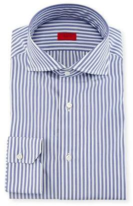 Isaia Bengal Stripe Dress Shirt, Navy/White