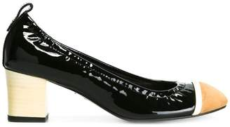 Lanvin rounded block heel pumps