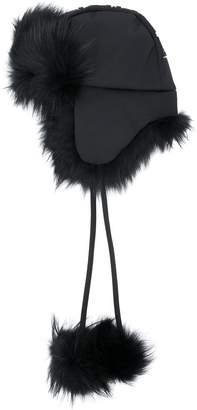 Fendi fur-trim pom pom hat