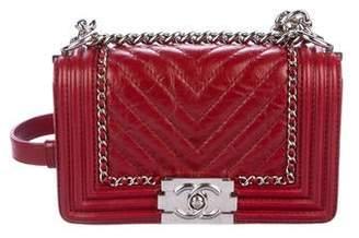 cc25c0ca814e Chanel Small Chevron Boy Bag