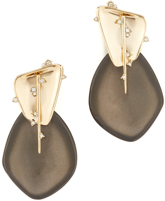 Alexis Bittar Satellite Crystal Spike Clip On Earrings $275 thestylecure.com