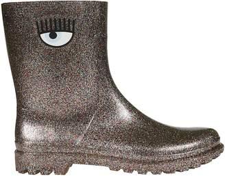 Chiara Ferragni Glittery Eye Rain Boots
