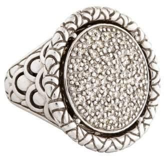 John Hardy Diamond Naga Round Ring