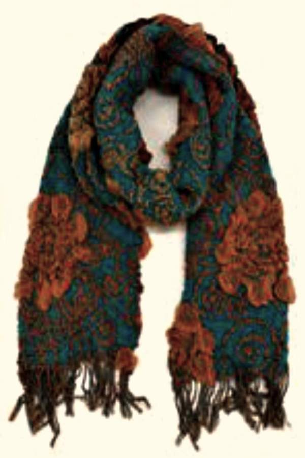 Patricia's Presents Long Teal Scarf