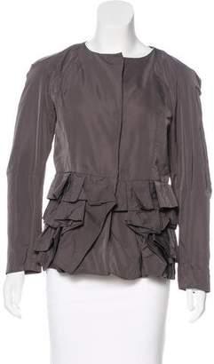 Marni Collarless Ruffled Jacket