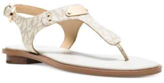 Michael Kors MICHAEL Plate Flat Thong Sandals