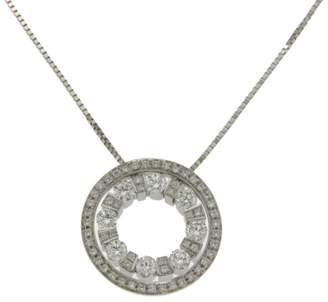 Damiani Belle Epoque 18K White Gold & Diamond Pendant Necklace