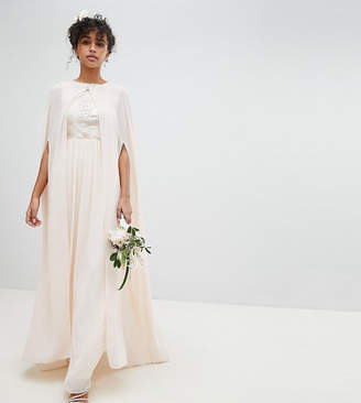 TFNC Chiffon Maxi Bridesmaid Cape Cover Up