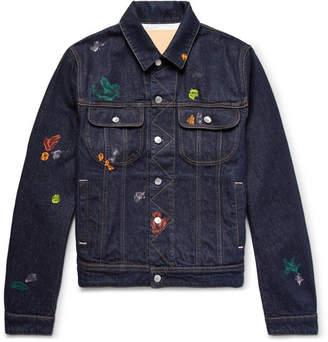Acne Studios Tent Gum Paint-Splattered Denim Jacket