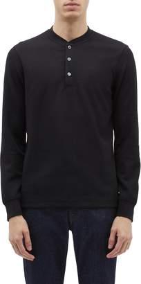 Theory 'Classic' waffle knit long sleeve Henley T-shirt