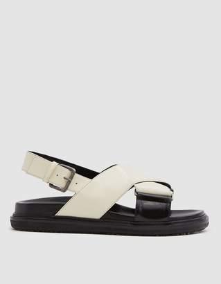 Marni Fussbett Sandal in Ivory/Black