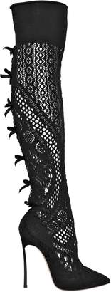 Casadei 120mm Stretch Knit Boots