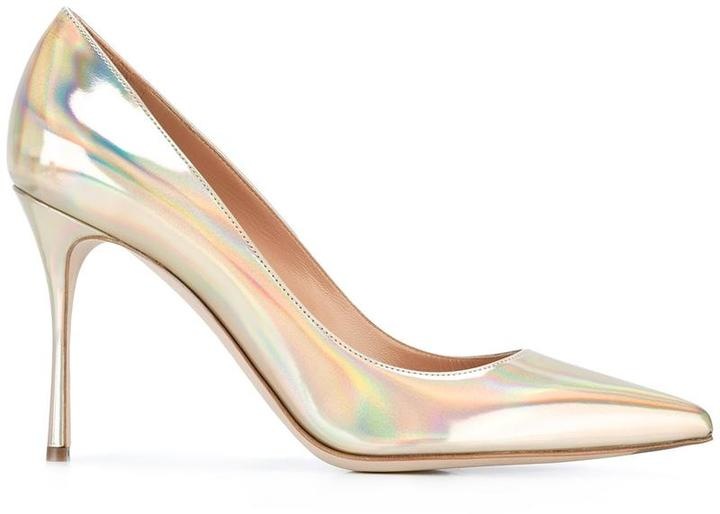 Sergio Rossi metallic stiletto pumps