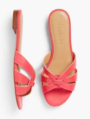 Talbots Keri Vachetta Slip-On Sandals