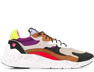 McQ colour blocked low top sneakers
