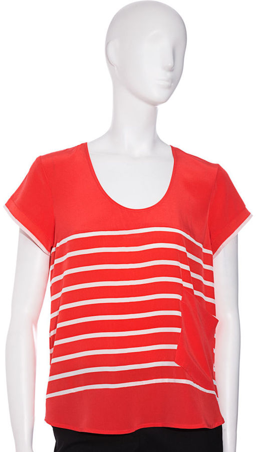 Madison Marcus Striped Top - Coral