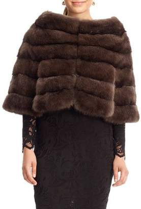 Gorski Horizontal Sable Fur Cape