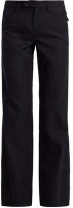 Chloé Serge High Rise Wool Blend Trousers - Womens - Navy