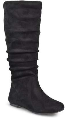 Brinley Co. Women's Wide Calf Slouch Microsuede Boots