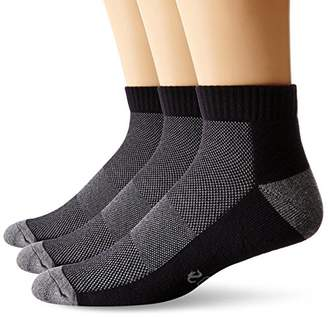 Ecco Men's 3-Pack Ankle With Mesh Top Sock