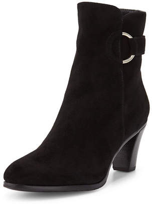 Gravati Suede Booties with Ring