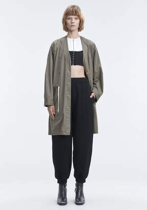 Alexander Wang JACKET WITH GATHERED WAIST JACKETS AND OUTERWEAR