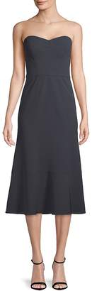 Vera Wang Women's Classic Strapless Midi Dress