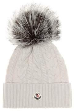 Moncler Fur-trimmed wool beanie