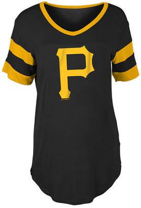 5th & Ocean Women Pittsburgh Pirates Sleeve Stripe Relax T-Shirt