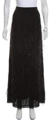 MICHAEL Michael Kors Feather Maxi Skirt Black Feather Maxi Skirt