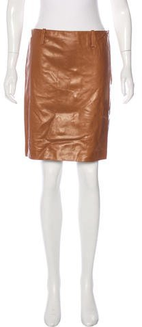 Ralph Lauren Collection Leather Mini Skirt w/ Tags