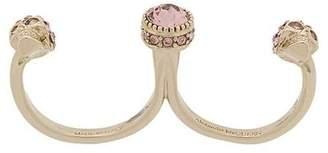 Alexander McQueen two-finger ring