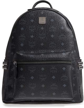 MCM Medium Stark Side Stud Coated Canvas Backpack