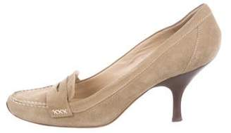 Michael Kors Suede Almond-Toe Pumps
