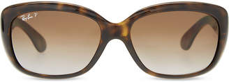 b89bdddaf76 at Selfridges · Ray-Ban Jackie Ohh RB4101 rectangle-frame polarised  sunglasses