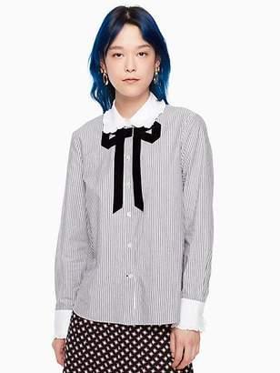 Kate Spade Trompe loeil bow shirt