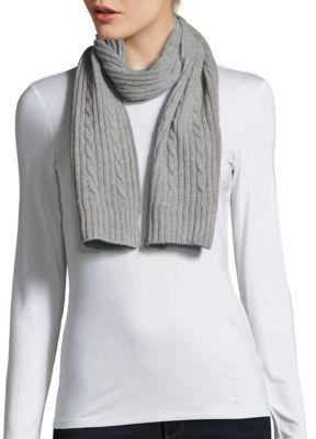 Cable-Knit Cashmere Scarf $159 thestylecure.com