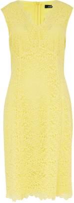 WallisWallis Yellow Lace V-Neck Dress