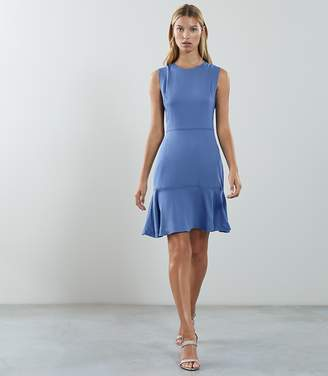 Reiss JACKIE SLEEVELESS FIT AND FLARE DRESS Blue