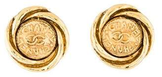 Chanel Swirl Clip-On Earrings