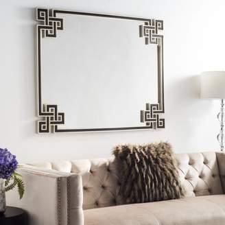 Safavieh Arcell 33 in. W x 45 in. L Geo-Key Mirror, Silver/Black