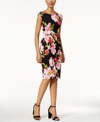 Connected Floral-Print Faux-Wrap Dress $69 thestylecure.com