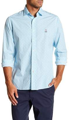 Psycho Bunny Patterned Classic Fit Sport Shirt
