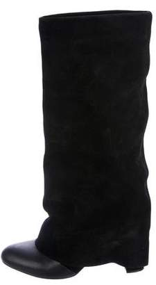 See by Chloe Suede Foldover Boots