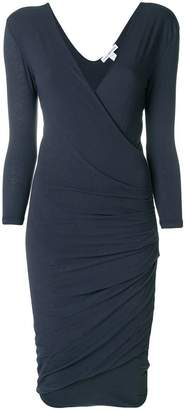 James Perse fitted wrap style dress