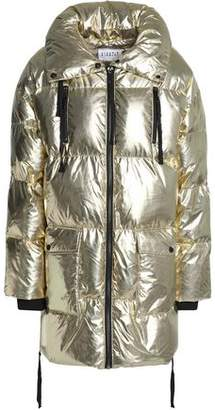 Claudie Pierlot Metallic Quilted Shell Coat
