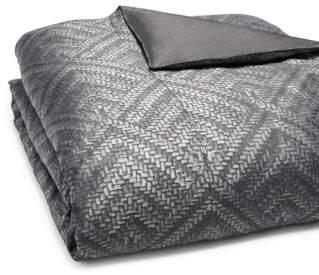 Hudson Park Collection Woven Diamond Duvet Cover, Full/Queen - 100% Exclusive