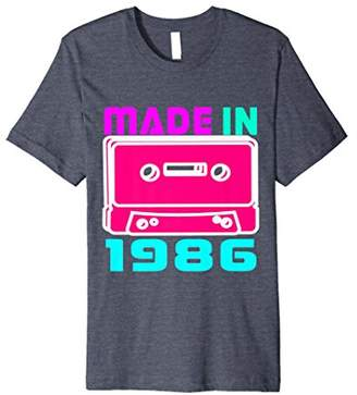 I Love 80s Shirt Made In 1986 Retro Vintage Neon T Shirt