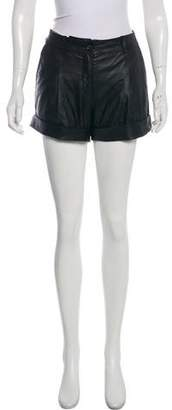 Elizabeth and James Leather Tailored Mini Short